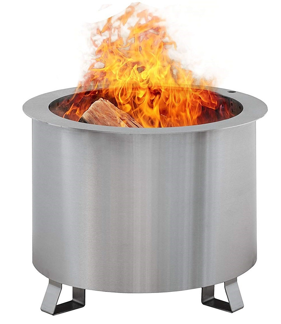 Product Reviews Breeo Double Flame Patio Fire Pit Review