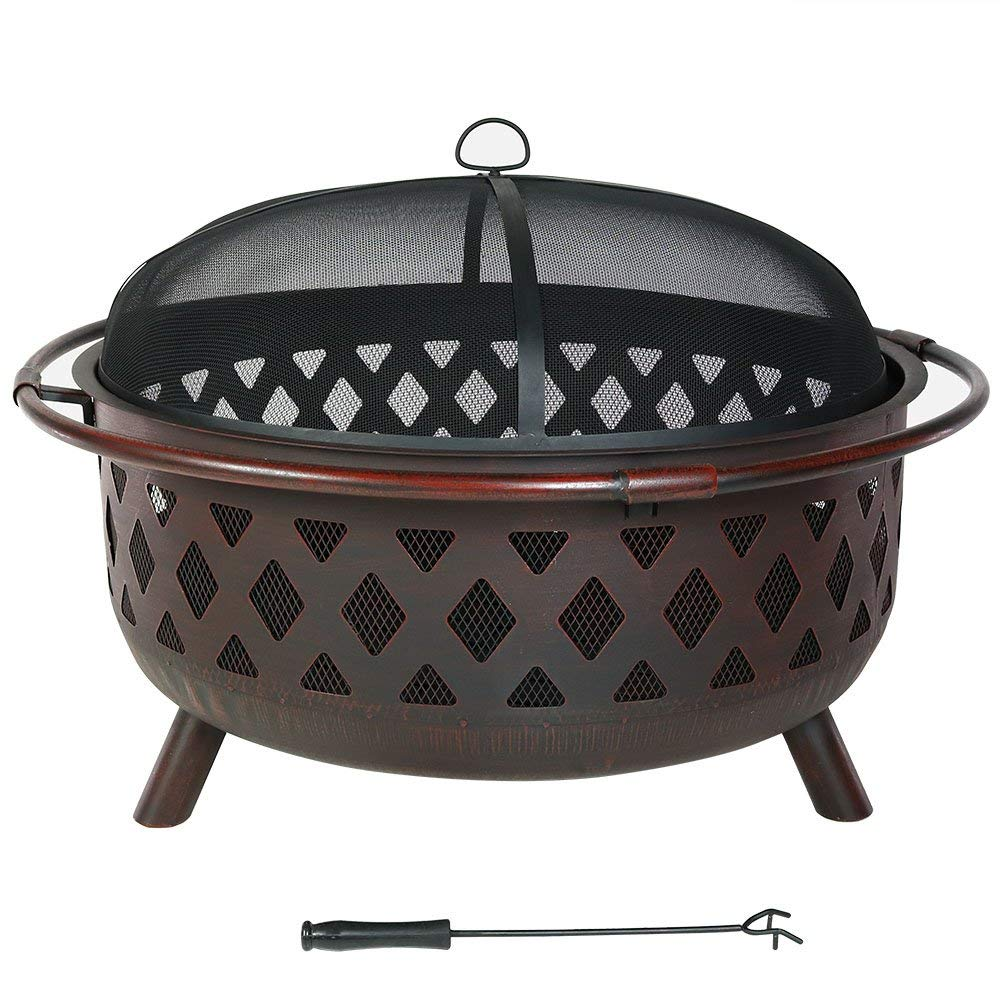 Sunnydaze Large Bronze Crossweave Fire Pit Review