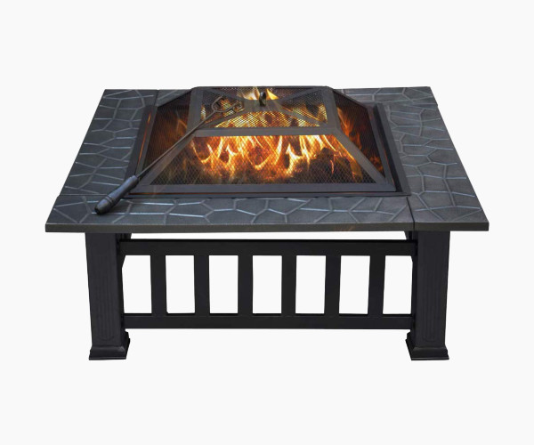 Yaheetech Outdoor 32-Inch Outdoor Metal Fire Pit