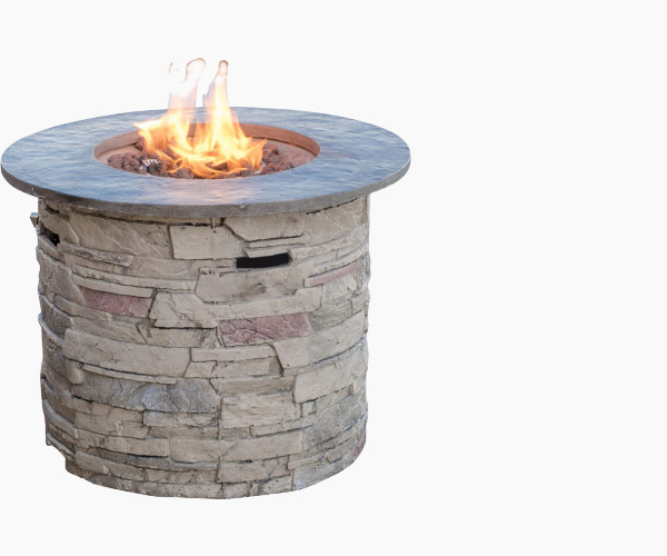 Great Deal Furniture Rogers Propane Fire Pit
