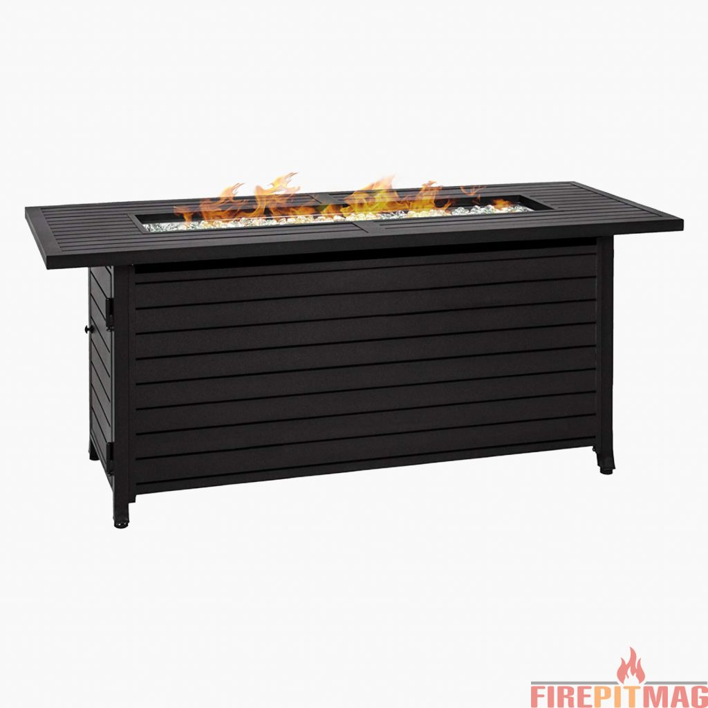 Best Choice Products Rectangular Extruded Gas Fire Pit Table