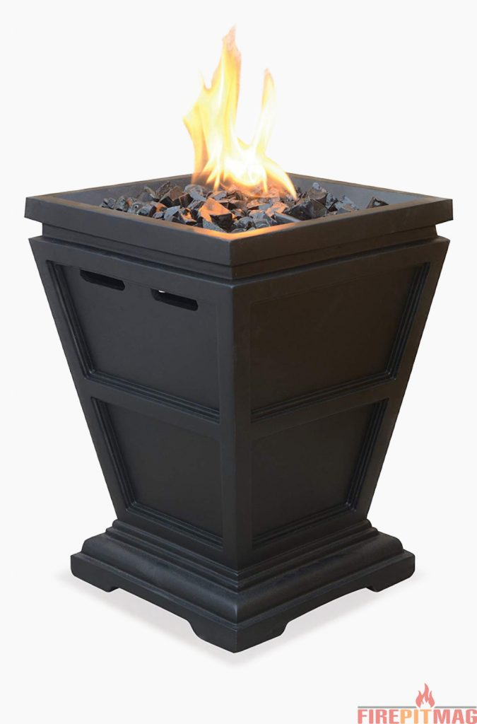 UniFlame LP Gas Outdoor Table Top Fireplace