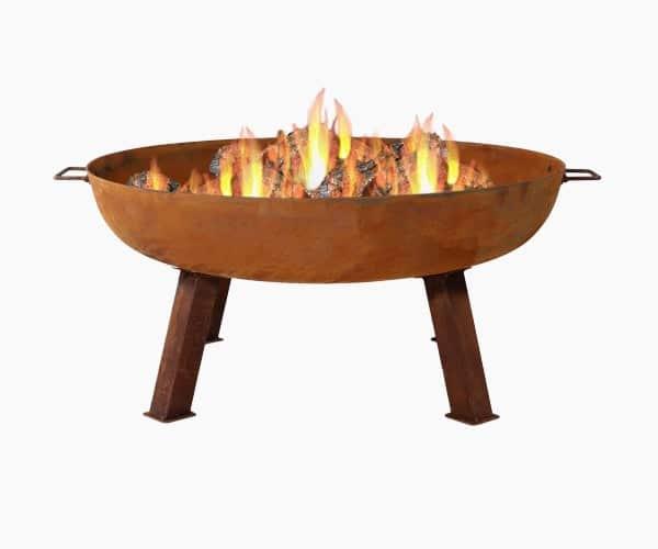 """Sunnydaze Decor 34"""" Large Cast Iron Fire Pit Bowl"""
