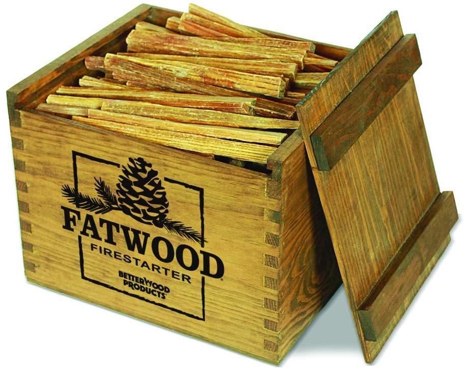 Better Wood Products Fatwood Firestarter with a Wooden Crate