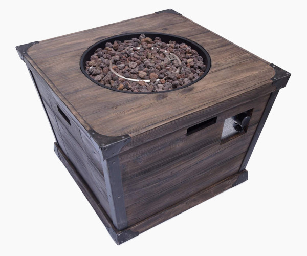 Great Deal Furniture Madge Outdoor Square Fire Pit