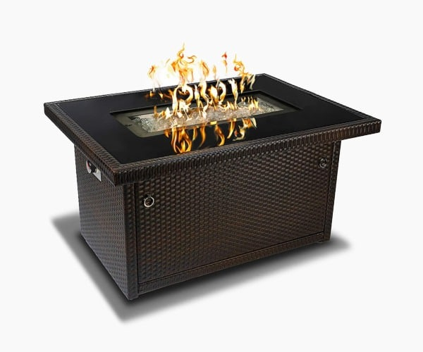 Outland Living Series 401 Brown 44-Inch Outdoor Propane Gas Fire Pit Table