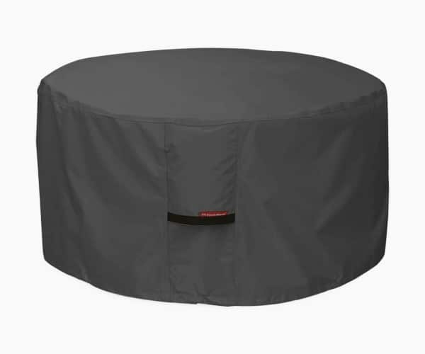 Porch Shield 100% Waterproof 600D Heavy Duty Patio Round Fire Pit/Table Cover