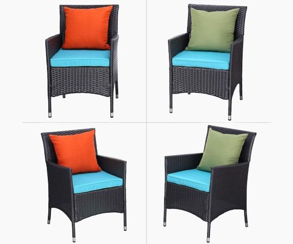 Do4U 3 Pieces Outdoor Patio Furniture Set