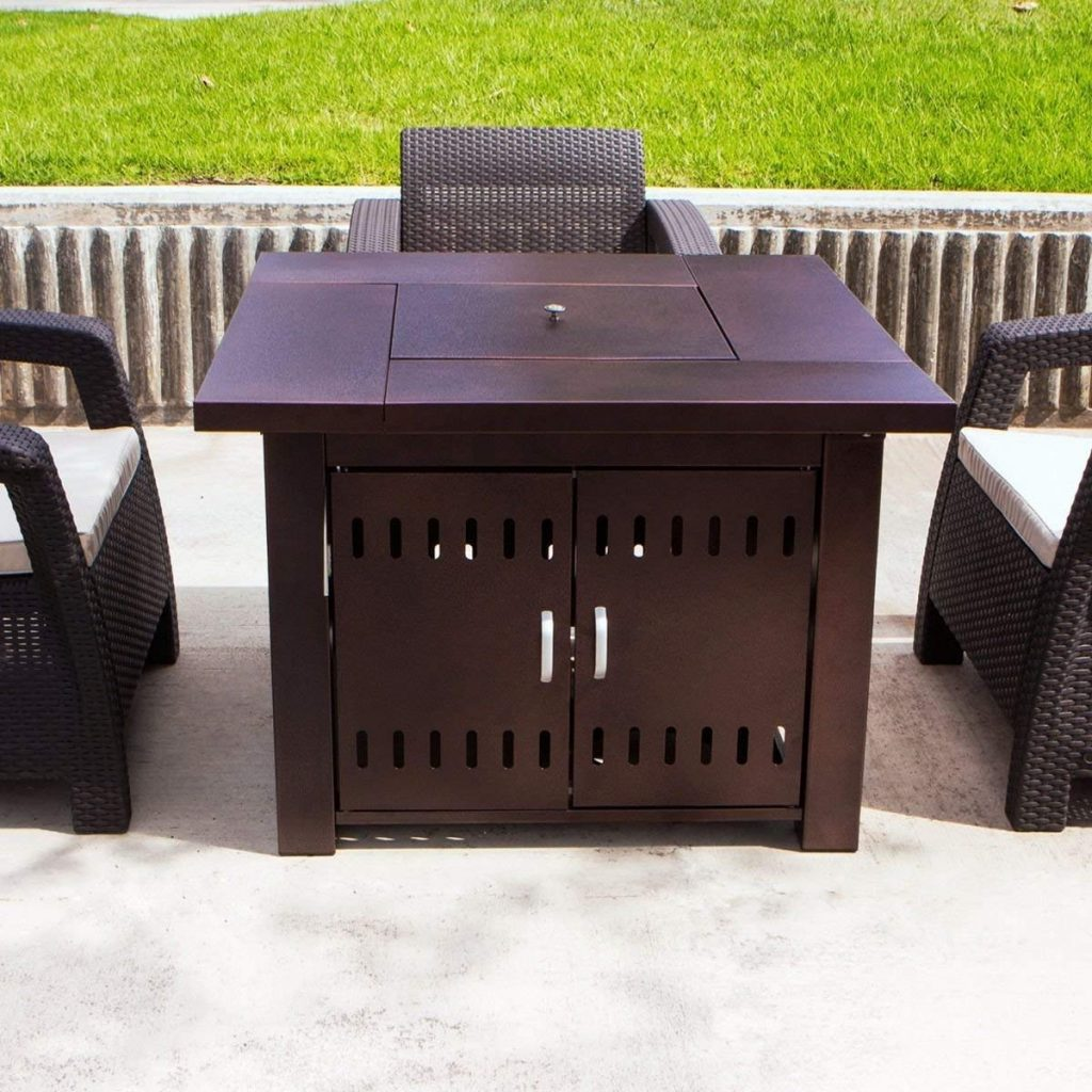 XtremepowerUS Out door Patio Heaters LPG Propane Fire Pit Table