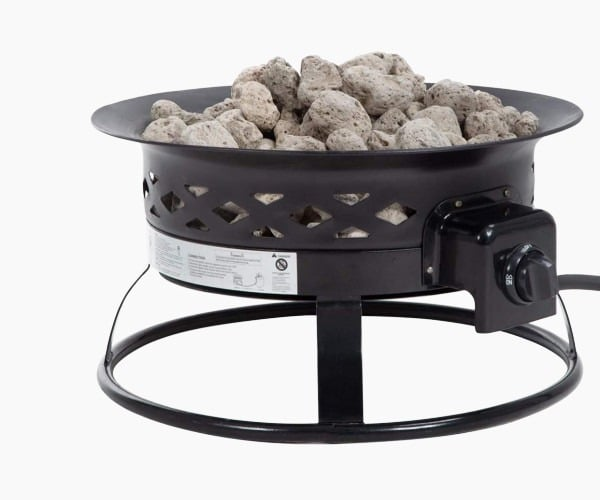 "BestMassage 30"" Fire Pit Round Outdoor FirePit Metal Fire Bowl"