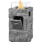Concrete Propane Fire Pit by Real Flame