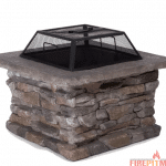 Colton Faux Stone Wood Burning Fire Pit Table by Laurel Foundry Modern Farmhouse