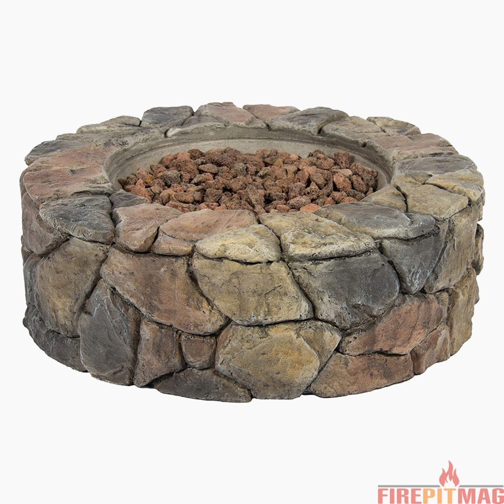 Best Choice Products Home Outdoor Patio Natural Stone Gas Fire Pit