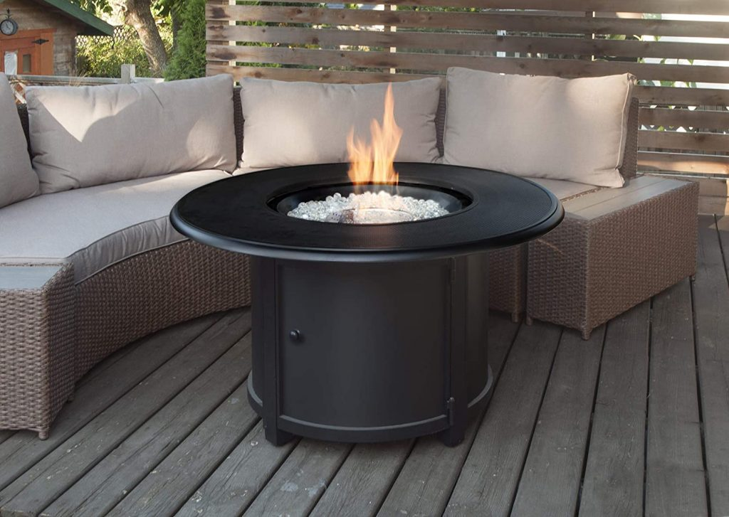Paramount Porter Stamped Aluminum Propane Fire Table