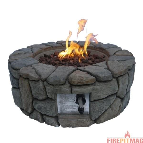 Bond Petra Stone Propane Gas Fire Pit