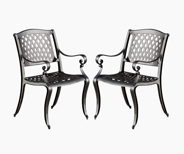 Christopher Knight Home 239070 Marietta Outdoor Cast Aluminum Dining Chairs