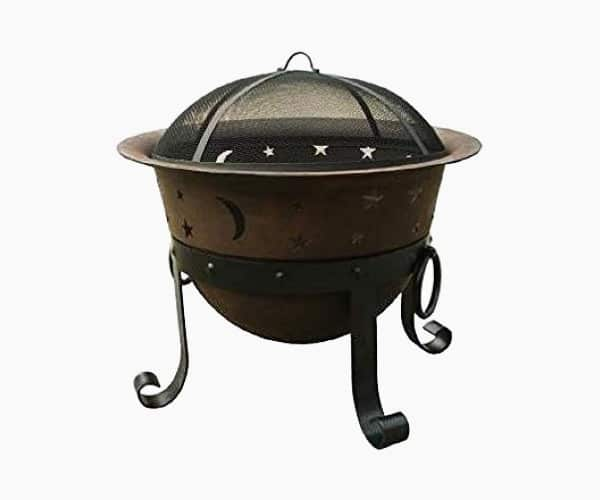 "Catalina Creations 29"" Heavy Duty Cast Iron Fire Pit"