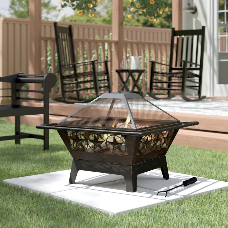 Sol 72 Outdoor Roswita Steel Wood Burning - Premium Stylish Fire Pit