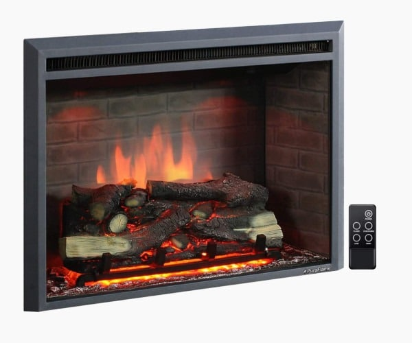 "PuraFlame 33"" Western Electric Fireplace Insert"