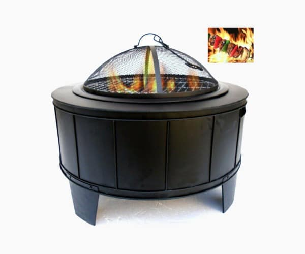 Cast Iron Wood Burning Fire Pit by Benzara