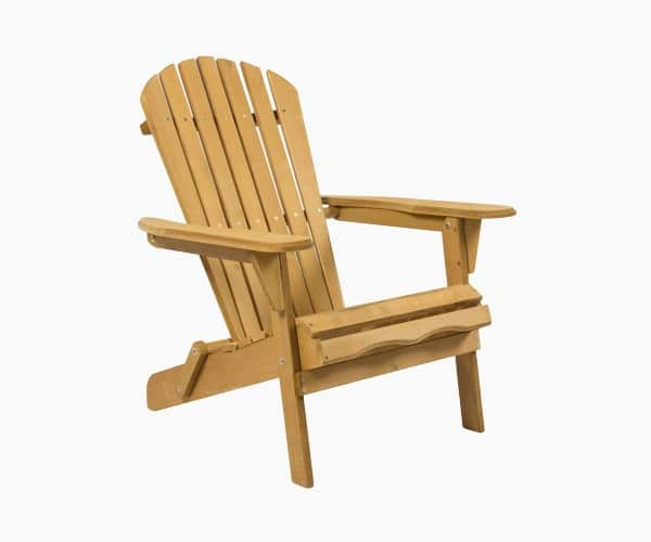 Best Choice Products Folding Wood Adirondack Chair