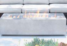 Living Source Concrete Propane Gas - Premium Patio Fire Pit Table