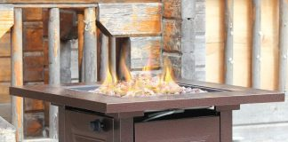 BestMassage Patio Propane Fire Pit Review