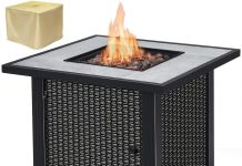 """Giantex 32"""" Round Propane Gas Fire Pit Table Review"""