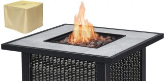 "Giantex 32"" Round Propane Gas Fire Pit Table Review"