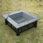 """Outsunny Square 32"""" Outdoor Backyard Patio Metal Firepit Review"""