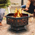 "F2C Outdoor Heavy Steel Hex Shape 24"" Fire Pit Review"
