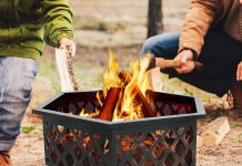 """F2C Outdoor Heavy Steel Hex Shape 24"""" Fire Pit Review"""
