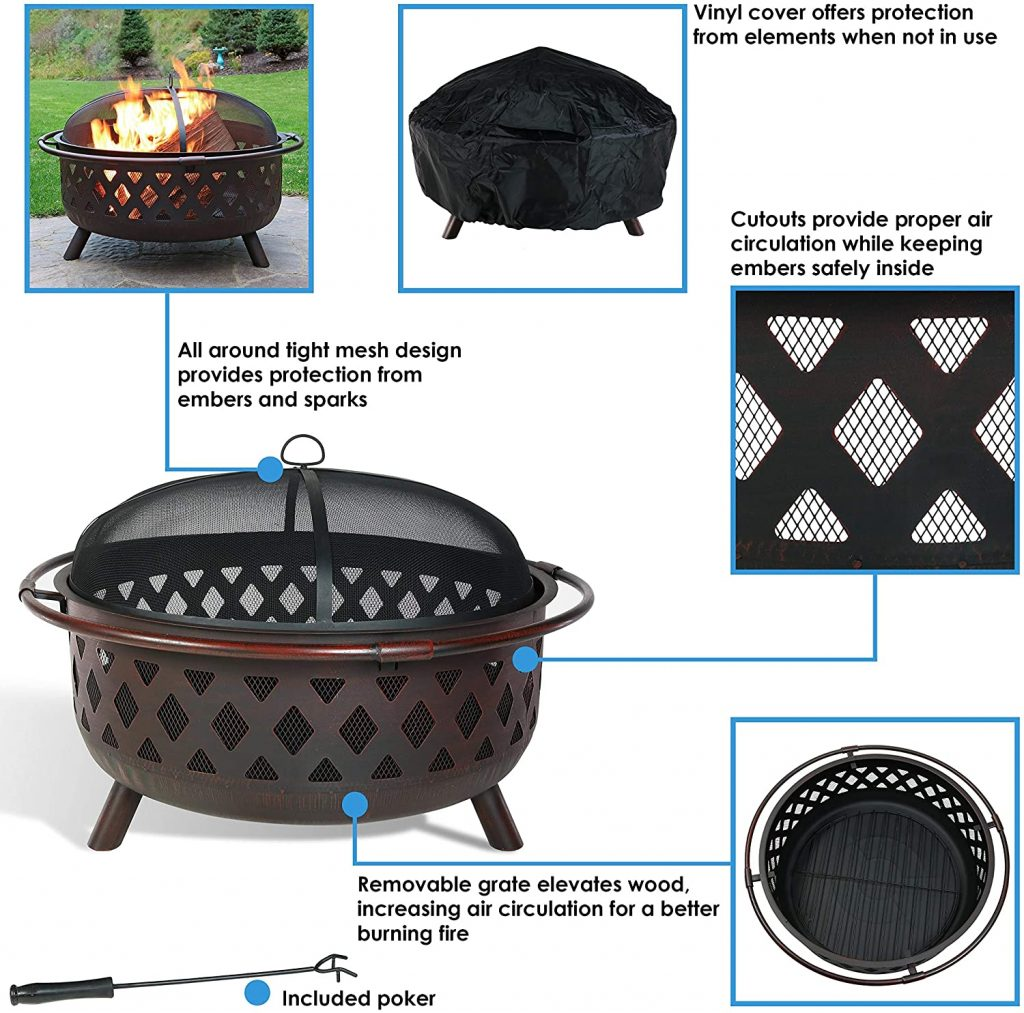 Sunnydaze Large Crossweave Outdoor Fire Pit Review