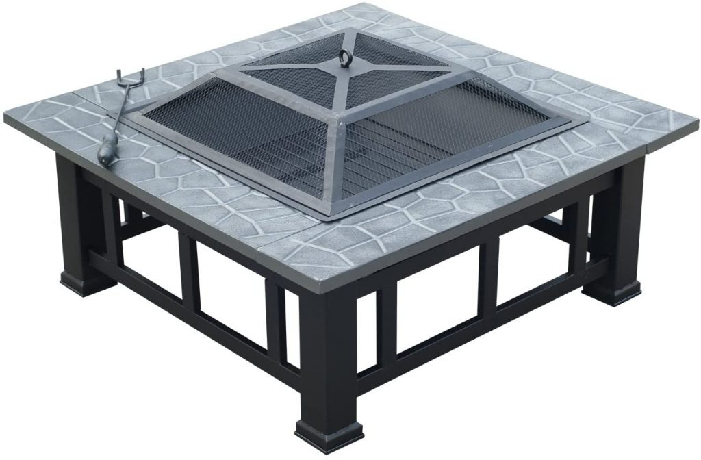 "Outsunny Square 32"" Outdoor Backyard Patio Metal Firepit Review"