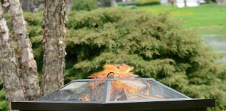 Pleasant Hearth OFW191S Hudson Square Steel Firepit Review