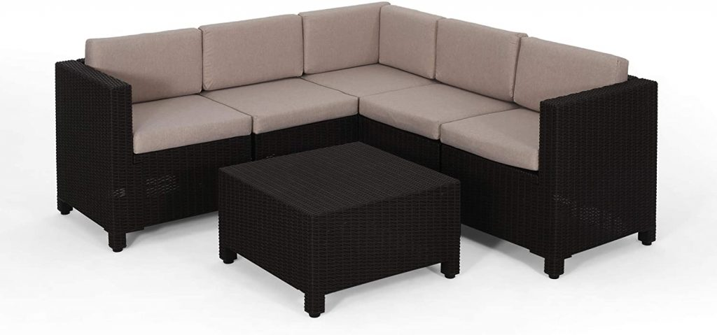 RILEY OUTDOOR FAUX WICKER CHAISE LOUNGE